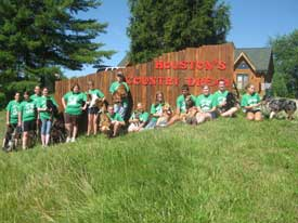 last day at camp group photo