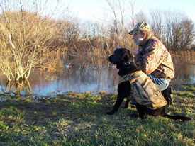 "Toby and Jim work on ""non-hunting"" skills."